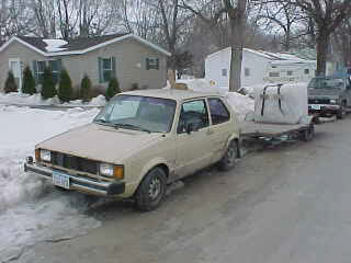 1983 gas VW, with a 1981 jetta diesel motor and an 80 diesel trany
