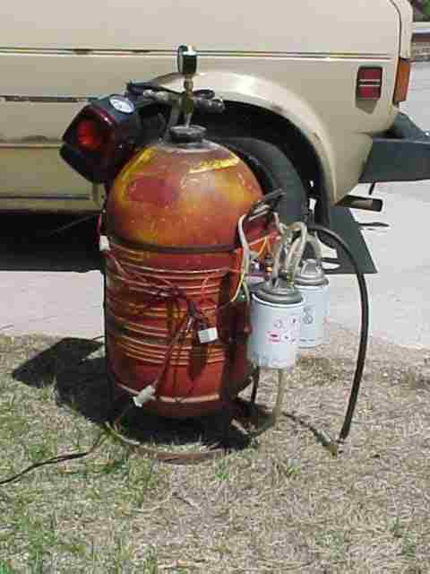 An old 10 gallon paint sprayer tank